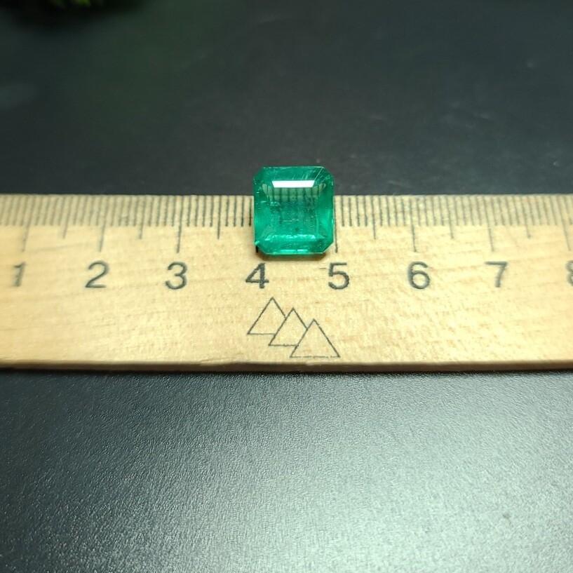 Emerald octagon cut 5.60 ct