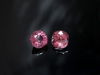 Spinel Cushion cut pair 1.83 ct and 1.86 ct