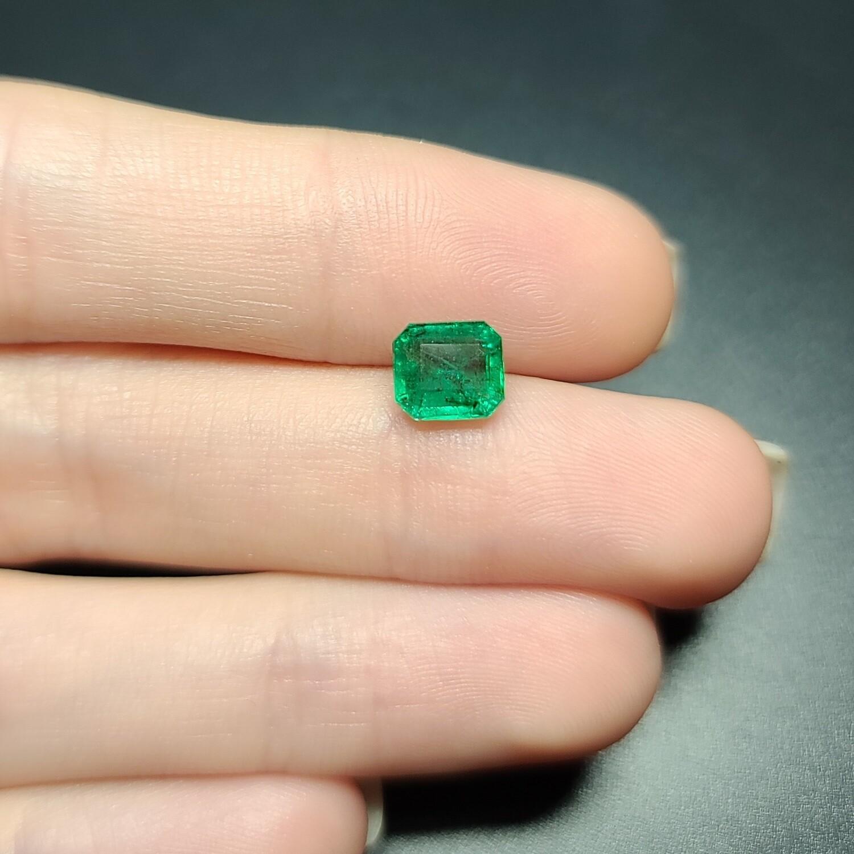 Emerald octagon cut 1.45 ct