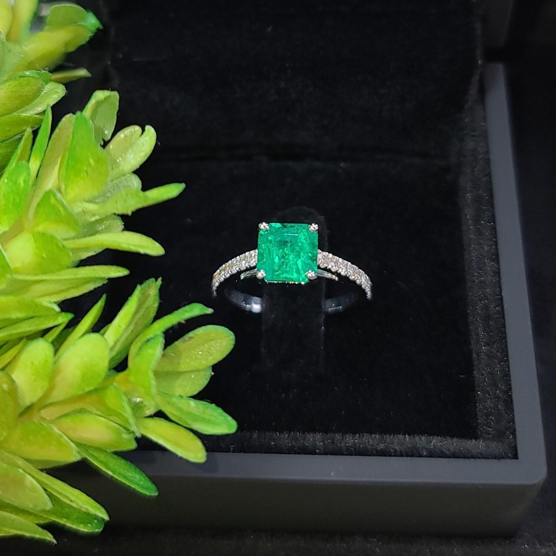 Emerald ring Sq.Emerald cut 1.57 ct