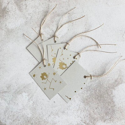Festive Gift Tags - Gold Foil