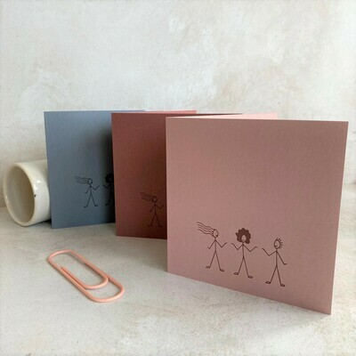 Pack of 6 Greeting Cards – Let's Stick Together