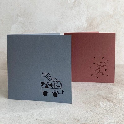 Pack of 6 Greeting Cards – Love Sticks