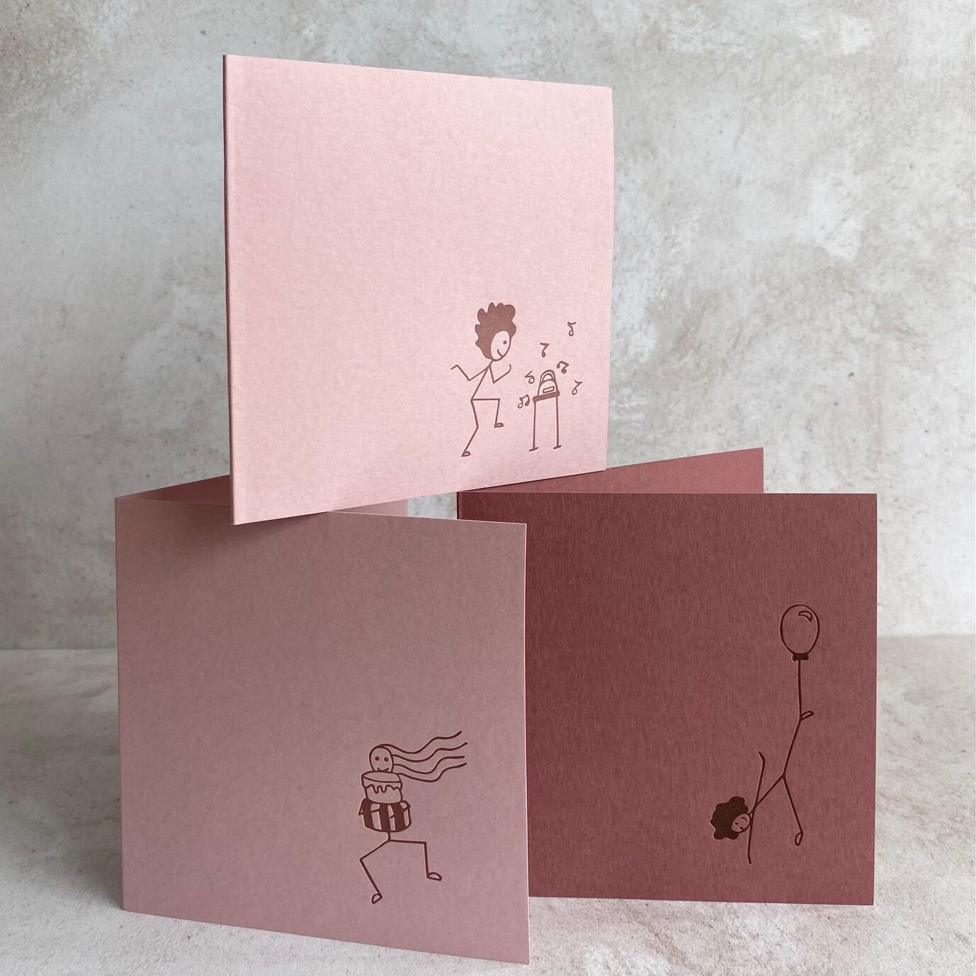 Pack of 6 Greeting Cards – Celebration Sticks