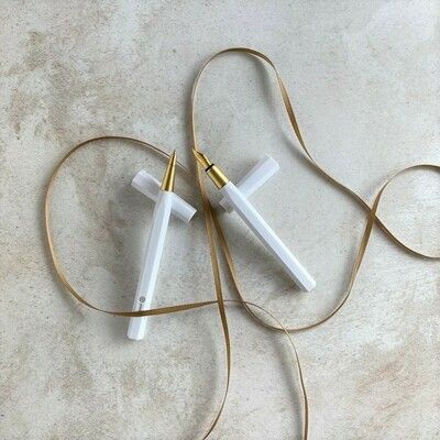 White Resin Pen Set - Gift Set