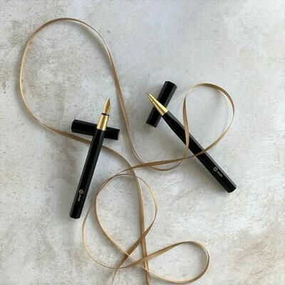 Black Resin Pen Set - Gift Set