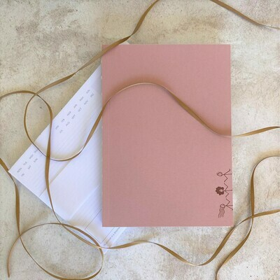 Paper Paradise- Layflat Notebook & Desk Planner  (in 2 colour options) - Gift Set