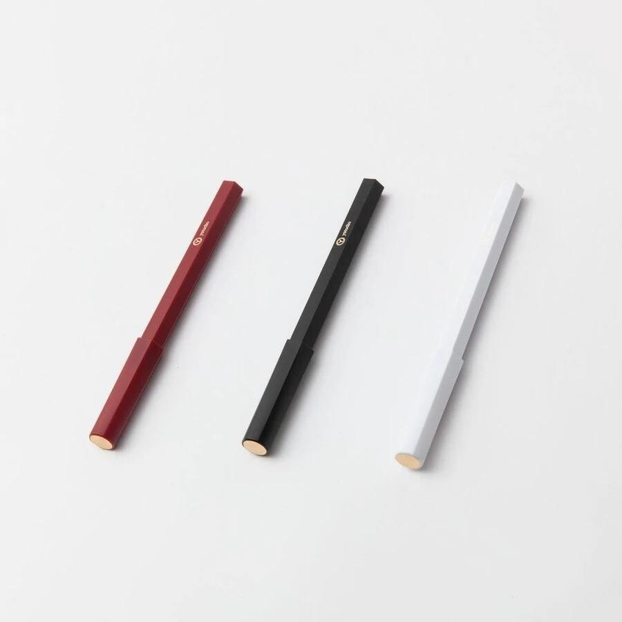 Rollerball Pen - Black, Red or White Resin