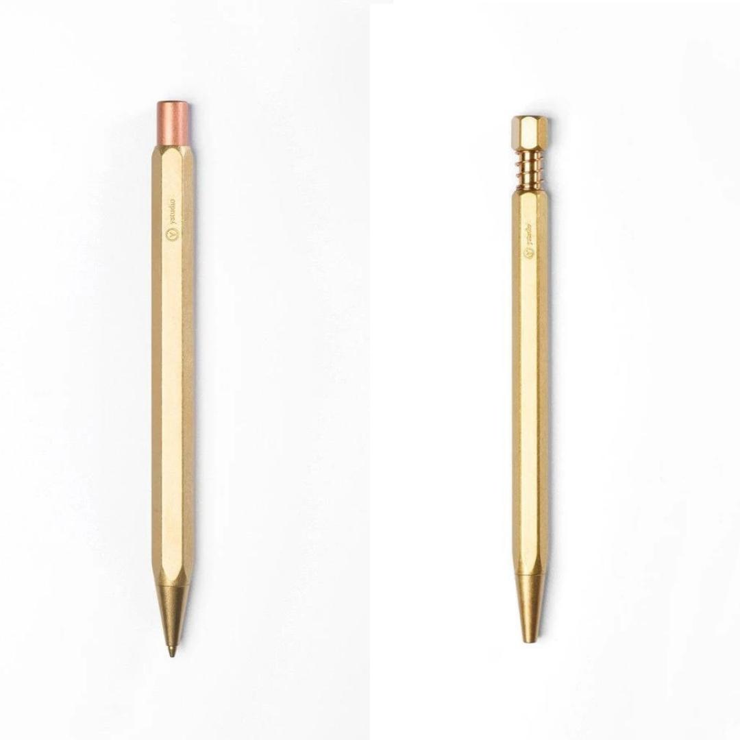 Brass Ballpoint Pen & Mechanical Pencil Set - Gift Set