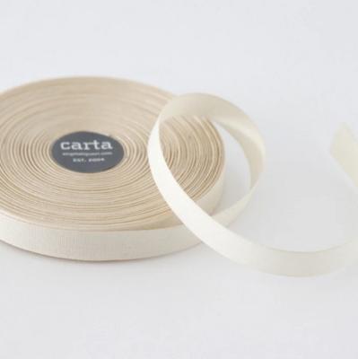 Studio Carta Ribbon - Natural Tight Weave Cotton - 1 Meter