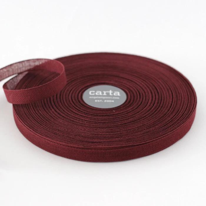 Studio Carta Ribbon - Wine Loose Weave Cotton - 1 Meter