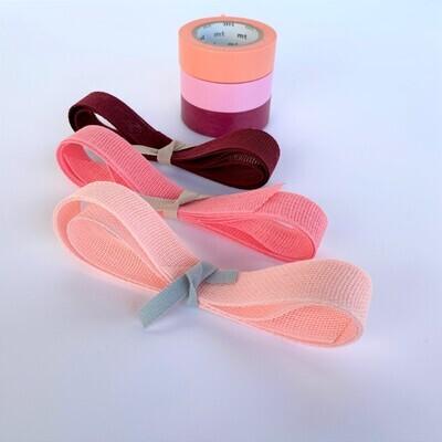Tape & Ribbon Set - Pinks & Reds