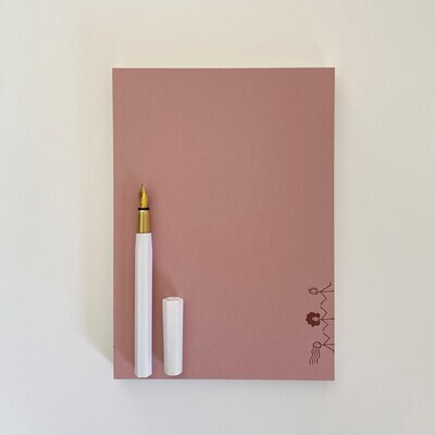 Layflat Notebook with Resin Pen (multiple colour & pen options) - Gift Set