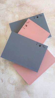 Seconds Sale - Layflat Notebook  - Grey & Pink