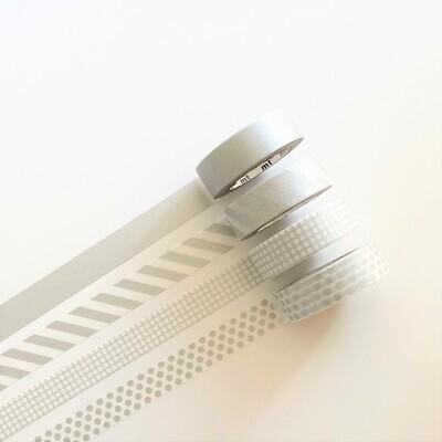 Washi Tape - Silvers