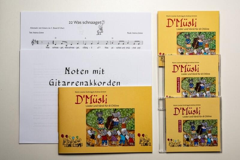Paketangebot PLUS D'Müsli -Lieder und Värsli für di Chliine