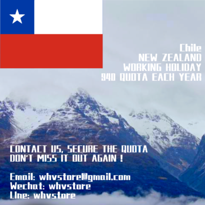 Chile Working Holiday Visa