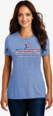 Women's USA Tri Blend T-Shirt