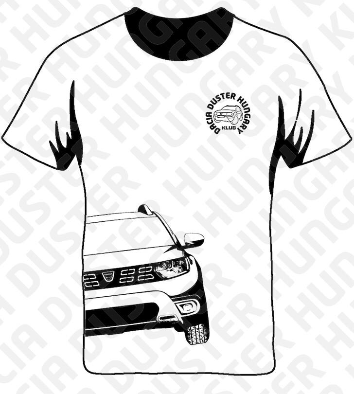 DDH Dacia Duster Hungary Klub póló Fehér