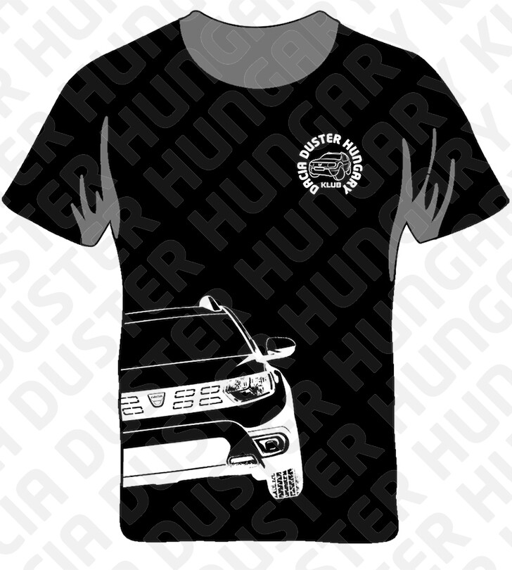 DDH Dacia Duster Hungary Klub póló Fekete