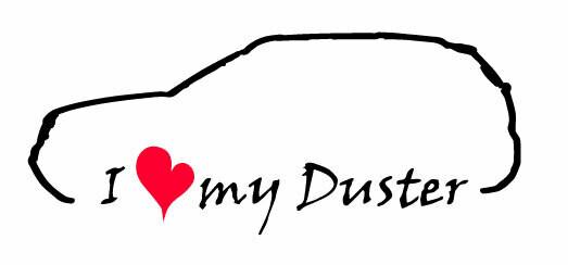 DDH i love my duster matrica