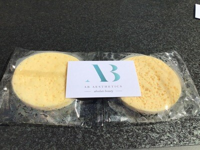 AB Aesthetics Ltd Facial Sponges X2