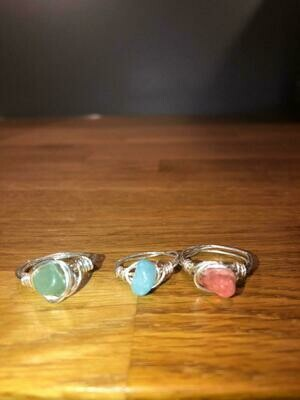 Hand Crafted Semi Precious Stone Rings