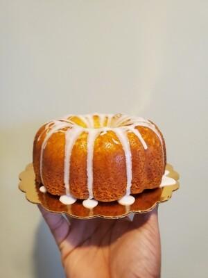 Passion Fruit Rum Cake Slice