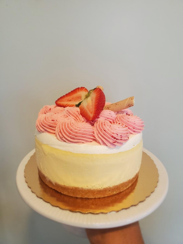 Strawberry Nilla Cheesecake Slice