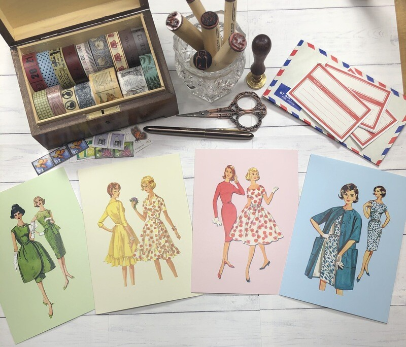 Vintage 1960's Fashion Postcards