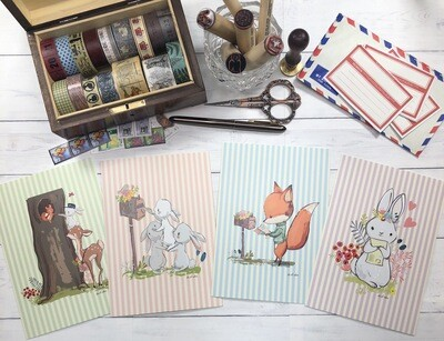 Snail Mail Delivery Postcards