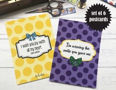 Friendship Quote Postcards