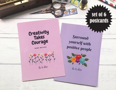 Motivational Quote Postcards