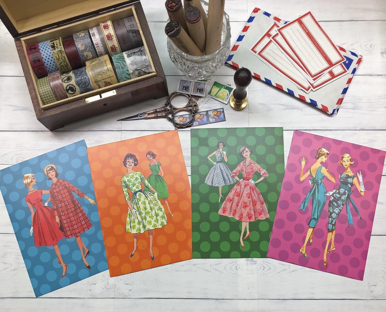 Fabulous 50s Fashion Postcards