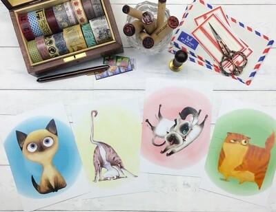 Cute Kitties Postcards