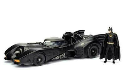 1989 Batmobile™ with Batman™ figure (1/24, diecast model car, Black)