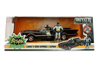 1966 Classic TV Series Batmobile with Batman and Robin figures (1/24, Black)