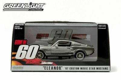 """Eleanor from """"Gone in 60 Seconds"""" Ford Mustang Hard Top (1967, 1/43 scale model"""