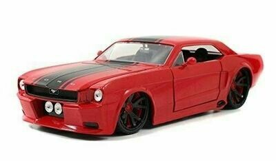 Jada 1965 Ford Mustang Hardtop  1:24 Scale (Red, Boxed)