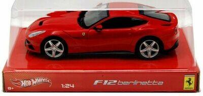 Hot Wheels - FERRARI F12 BERLINETTA (Red) Model Scale 1:24