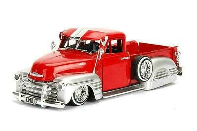 Jada Chevy® Pick Up (1951, 1/24 scale diecast model truck (Red)