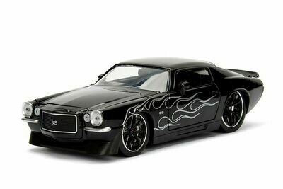 Bigtime Muscle Chevy® Camaro® Hard Top (1971, 1/24 scale diecast model car (Blk)
