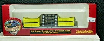 ERTL Collectibles Grain Boxes w/Running Gear - Flat Car Load HO Scale