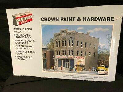 WALTHERS CORNERSTONE SERIES HO SCALE  Crown Paint & Hardware Store -  Assembled