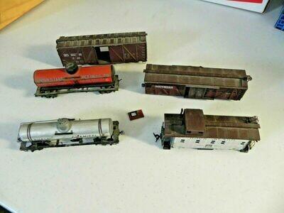 This old Train cars (7ea.) Set - HO Scale