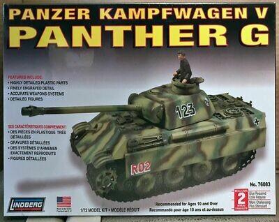 Lindberg German Panther G Tank  1:72 Scale Model Kit