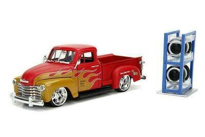 Jada Just Trucks - 1953 Chevy Pickup (Primer Red/Orange Flames)