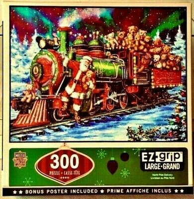 Masterpieces - 300 Piece Jigsaw puzzle - Holiday North Pole Delivery - EZ Grip