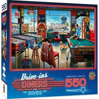 Drive Ins - Diners and Dives 550 Pcs Jigsaw Puzzle