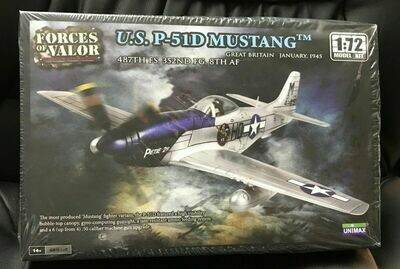 87005 FORCES OF VALOR UNIMAX 1:72 Escala EE.UU. p-51d Mustang